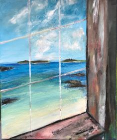 Original painting, acrylic on canvas, painted on the Isles of Scilly. Original art for a unique home. New art. Beach art. Tresco painting by Beautifulwestcountry on Etsy Acrylic Artwork, Acrylic Painting Canvas, Oil On Canvas, Original Artwork, Original Paintings, Small Paintings, Beach Art, New Art, Scenery