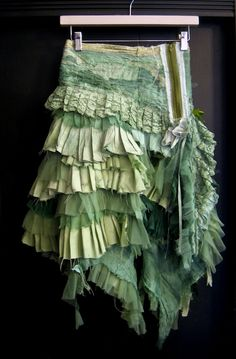 Pagan Skirts Wicca Witch: Gibbous Greens for the Green Witch. Altered Couture, Ao Dai, Gypsy Style, Boho Chic, Bohemian, Shabby Chic, Mode Style, Shades Of Green, Refashion