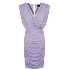 JS Sexy Lady's Body-Hugging Purple Spandex V Collar Mini Dress - iDreamMart.com