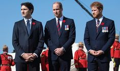 Prime Minister Justin Trudeau, Prince William and Prince Harry paid their respects to the fallen soldiers at the Vimy Memorial for the Anniversary of the Battle at Vimy Ridge April Prince William Et Kate, Prince Harry And Meghan, Prince Charles, Prince Henry, Justin Trudeau, Barack Obama, Sophie Gregoire Trudeau, David Johnston, Jack Taylor