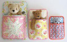 sleeping bags for teddies ... soooo cute