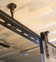 ceiling mounted barn door same opening type as ours wall With ceiling mounted barn door hardware kit