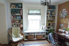 built in ikea billys, diy, home office, shelving ideas, storage ideas