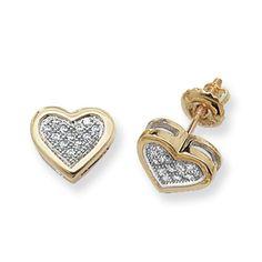 9ct Yellow Gold 0.12ct Diamond Heart Shaped Stud Earrings   <p>9ct Yellow Gold 0.12ct Diamond Heart Shaped Stud Earrings</p>