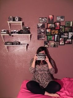 My photo/ vintage camera collection wall