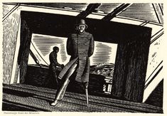 Captain Ahab (1930).  Illustration by Rockwell Kent for Herman Melville's Moby Dick.