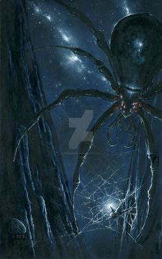Morgoth Ensnared by Ungoliant by KipRasmussen on DeviantArt