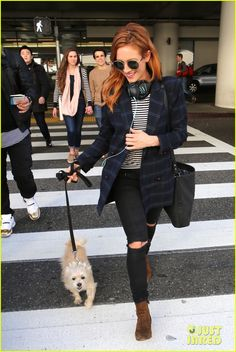 Brittany Snow Shows Off New Hair Color After Landing at LAX: Photo 3834759 | Brittany Snow, Celebrity Pets Pictures | Just Jared