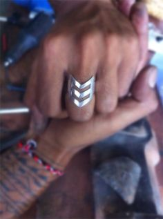Triangle Ring, Mens Silver Ring, Mens Personalized Ring, Free Engraving, Chevron Ring, Bohemian Silver Ring, Tribal, Aztec, Rings, Jewelry on Etsy, $36.99