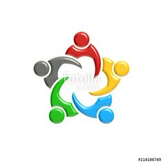 """Download the royalty-free photo """" People Group Teawork Logo. 3D Rendering illustration"""" created by Fotolia365 at the lowest price on Fotolia.com. Browse our cheap image bank online to find the perfect stock photo for your marketing projects!"""