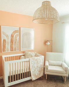 Peach Nursery, Nursery Neutral, Accent Wall Nursery, Orange Nursery, Boho Nursery, Nautical Nursery, Elegant Baby Nursery, Nursery Paint Colors, Baby Girl Nursery Decor