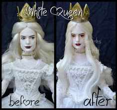 i really like anne hathaway and i love her in the role as the white queen in the live action alice movie. repainted ooak mirana, the white queen doll. Ooak Dolls, Barbie Dolls, Art Dolls, Custom Barbie, Custom Dolls, Sleeping Beauty Doll, Snow White Doll, Barbies Pics, Der Computer