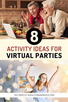 Whether you're stuck at home due to a quarantine or you have family and friends across the country, you can still have lots of fun together. Instead of just chatting via a virtual platform - how about having a virtual party? Come on over to Fern and Maple where I share 8 creative virtual party ideas you will love www.fernandmaple.com