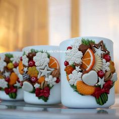 Polymer Clay Projects, Polymer Clay Creations, Biscuit, Polymer Clay Cupcake, How To Make Clay, Polymer Clay Christmas, Clay Mugs, Paper Crafts Origami, Clay Flowers