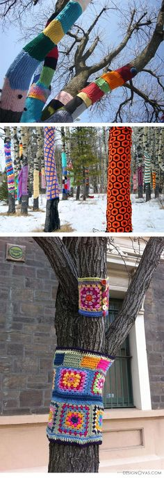 Decorating trees and garden in winter. 30+ interesting ideas
