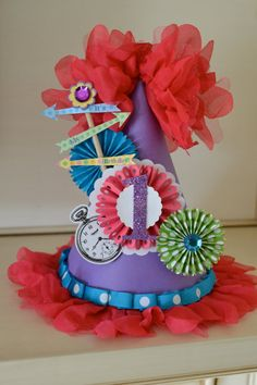 Alice in Wonderland party hat by PoshBoxParties on Etsy