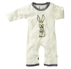 Babysoy Baby-Boys Janey Baby One Piece Bodysuit, Gray, Bunny, 0-3 Months (814961017607) Organic cotton baby one piece Jane Goodall endangered animals Ykk snaps for easy dressing Machine wash, tumble dry. Fair trade