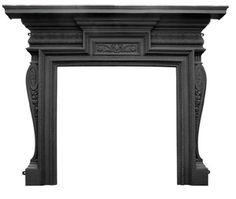 Carron Knightsbridge Black Cast Iron Fire Surround