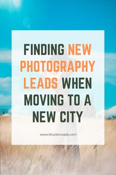 Finding new photography leads after moving to a new city can be a tricky situation for photographers. Especially if they came from an area where they were successful. Wedding Photography Marketing, Photography Business, New City, Do It Right, Industrial Wedding, Social Platform, Photographers, Led, Fotografie