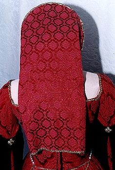 Tudor French Hood from Back
