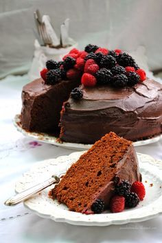 Pane, burro e alici: Torta di ricotta al cioccolato fondente