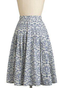 Delft Assured Skirt, #ModCloth I love this cut :)