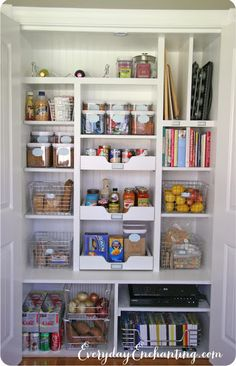 31 Days of Spontaneous Organizing - Day $24: Pantry {inspiration and more shelves}