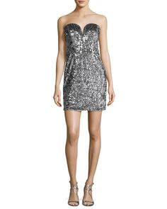 203304fad6ec Carly Sweetheart Sequin Cocktail Dress