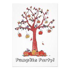 Pumpkin Party, Halloween Party Invitation