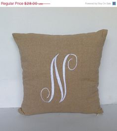 Initial Pillow Covers Enchanting Initial Pillow Personalized Gifts Monogram Pillows 22 Inches Euro Design Inspiration