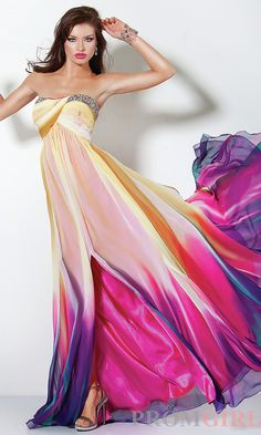 The colors on this dress are gorgeous and really make it POP!