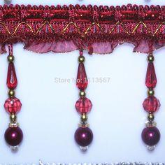 Spitzenstoff quaste fransen wulst strass zierleisten handwerk geflochten band trimmen nähen Lieferungen für vorhang 12 Meter/t665(China (Mainland))