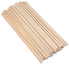 Amazon Com Eboot Unfinished Natural Wood Craft Dowel Rods 12 Inch X 1 4 Inch 50 Pack Natural Wood Crafts Wood Crafts Wood
