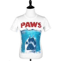 Our Paws (Jaws Parody) Womens Racerback tank top is the perfect addition to your Summer collection! Worldwide Shipping!