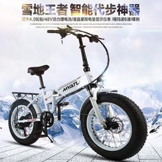 "20"" 6 Speed 48V 250W Strong Power 4.0 Wide Snow Bike, Folding Electric Bike, Mountain e Bike, MTB Bicycle"