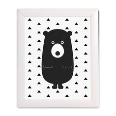 Bear with Triangles Print - The Project Nursery Shop