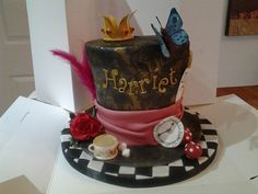 Alice through the looking glass cake ( Johnny Depp version) 21st Cake, Glass Cakes, Through The Looking Glass, Johnny Depp, Cake Ideas, Cake Decorating, Alice, Birthday Cake, Party Ideas