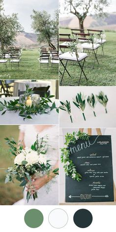 simple and stylish white greenery wedding ideas