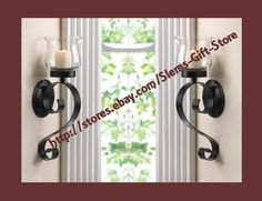 $29.95 Free Shipping! CANDLE WALL SCONCE SET OF 2 BLACK SCROLL CANDLEHOLDER USE TEALIGHT OR VOTIVE  http://stores.ebay.com/Slems-Gift-Store *OR* order directly from me at dslem3@yahoo.com and receive 20% off any item in the store!
