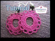 Tutorial 11. Orecchini Rotondi all' Uncinetto | How to Crochet Round Cir...