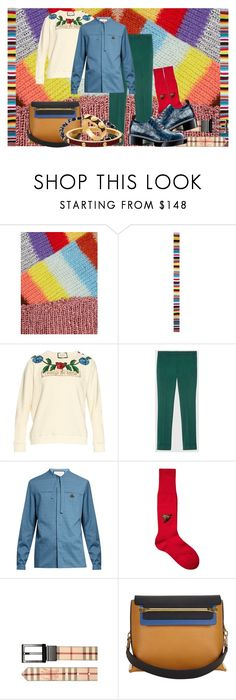 """Taste the Rainbow"" by goosegui ❤ liked on Polyvore featuring Gucci, Burberry, Louis Vuitton, Chloé, Luis Morais, men's fashion and menswear"