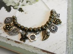 Antique Gold and Silver Two Tone Necklace by sewstacy on Etsy, $22.00