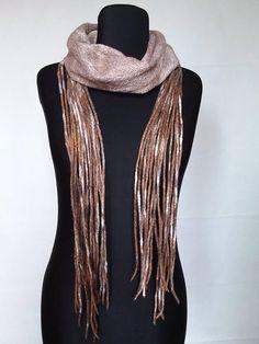Felt scarves Necklace felt Scarf is flat Scarf felt Brown