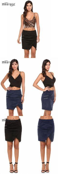 bd413ad271 Brand sexy women summer skirt sheath high waist corduroy faux wrap slit  solid mini women skirt fashion summer skirts  women  empire   nylon