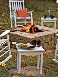 Fire pit may be an excellent add-on to any outdoor space. This fire pit is much larger than a number of the others mentioned. It's a simple rock fire pit. A fire pit is a superb start. Garden Fire Pit, Diy Fire Pit, Fire Pit Backyard, Backyard Camping, Outside Living, Outdoor Living, Outdoor Projects, Home Projects, Brick Projects