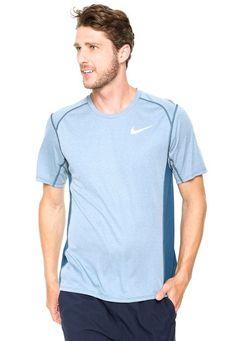 4f97813d7b8 Camiseta Nike Miler Top Ss Azul - Marca Nike