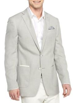 Tallia Orange Silver Slim-Fit Solid Basketweave Sport Coat