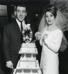 Reggie Kray and his beautiful bride Frances Shea on their wedding day, 20th April 1965