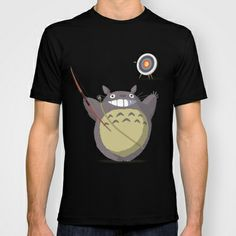 Totoro Archer T-shirt by Gianluca Armeni - $22.00
