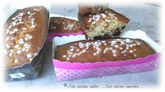 Cake au fromage blanc et griottes - pépites de chocolat. Hop ce matin mini cake…